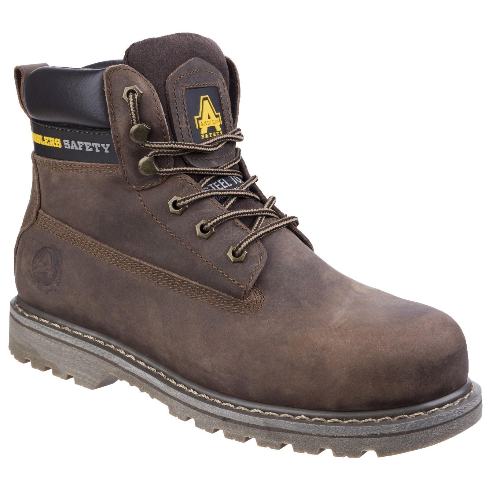 Amblers Seguridad FS164 Goodyear Welted Unisex Con Cordones botas De Seguridad Industrial