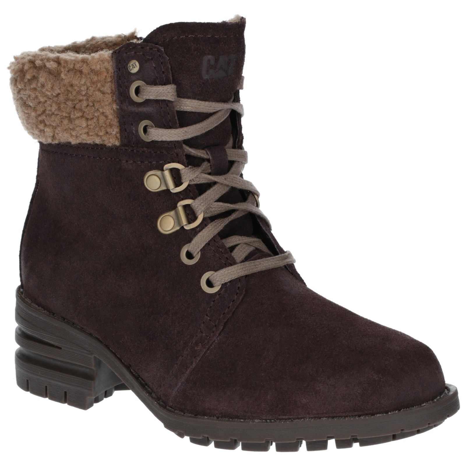 CAT Lifestyle Womens Cora Fur Lace Up Boot
