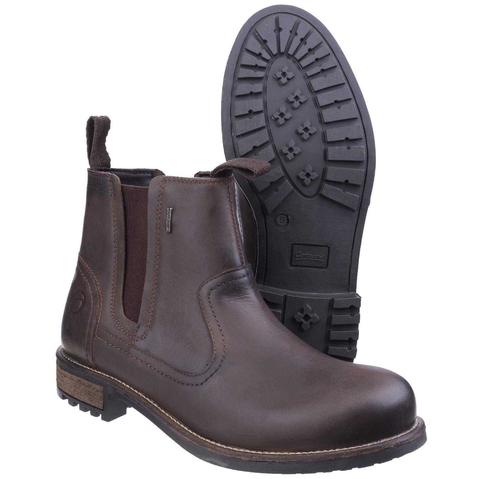 Cotswold Herren Worcester Chelsea Leder Stiefel Wasserdicht Chelsea Worcester Boots Atmungsaktiv e32e54