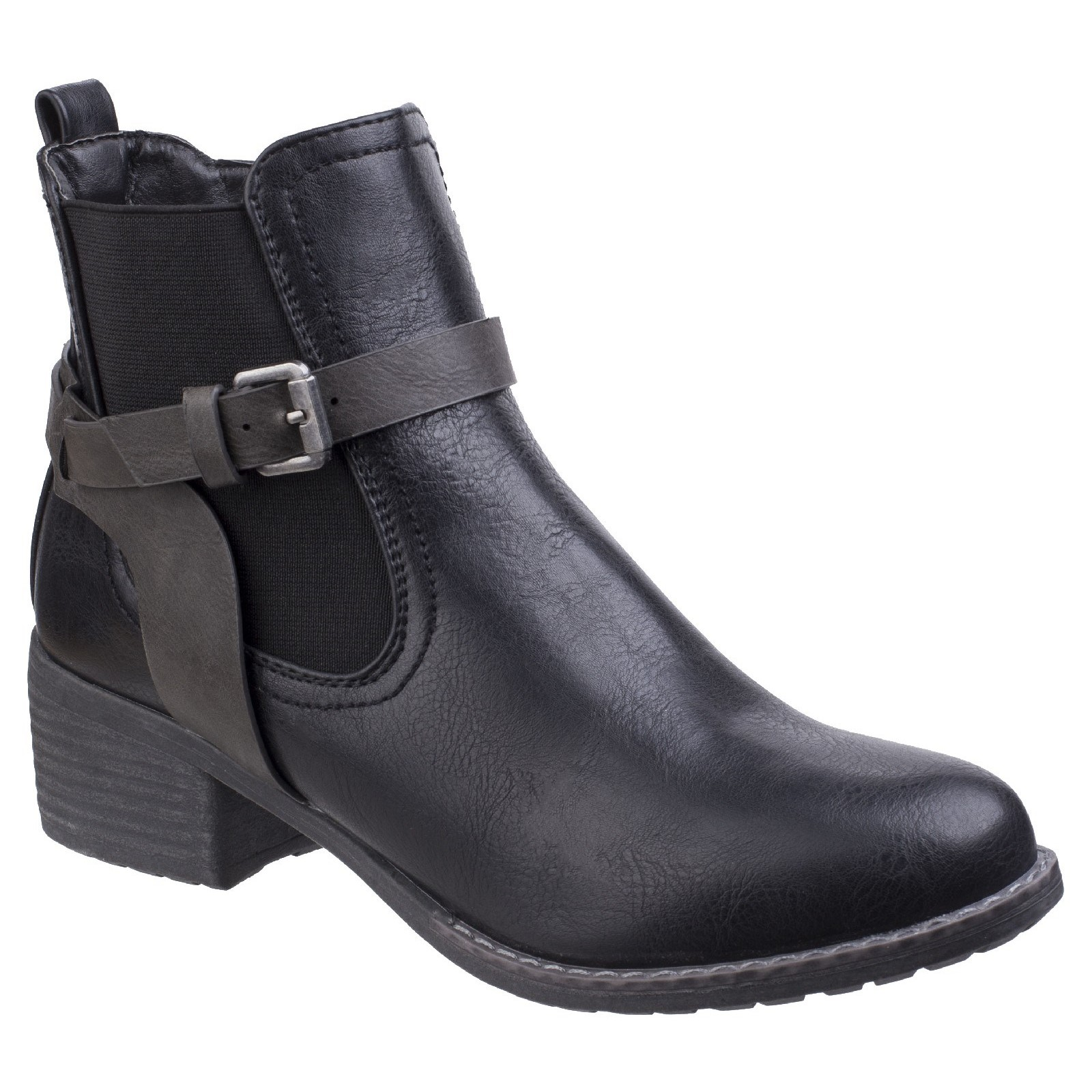 Divaz Womens Ivana Block Heel Ankle Boot