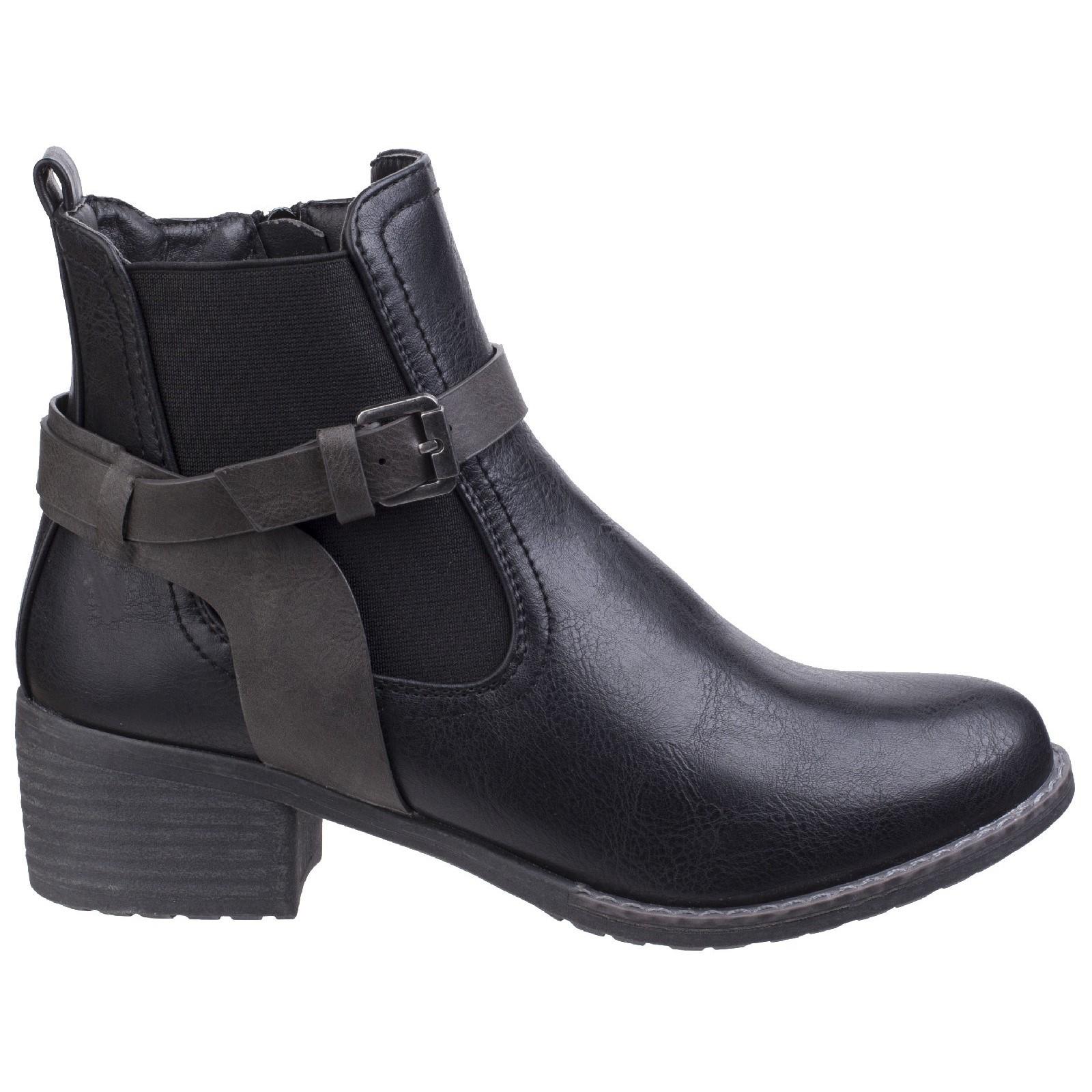 Divaz Femmes Ivana Ladies Block Heel Bottes Bottines Cheville Chaussures