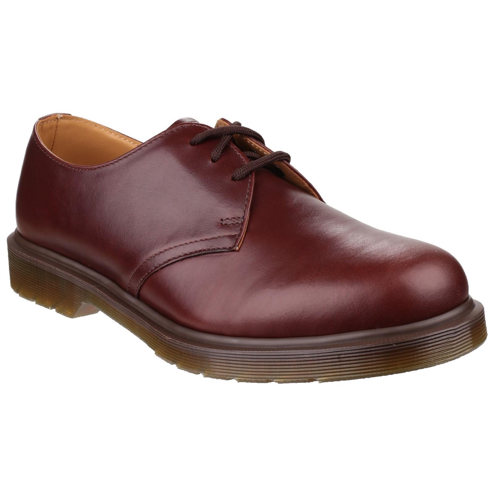 Dr Martens Hombre 1461pw Clásico Marrón Zapatos de Cordones Tamaño UK 10 Ue 45