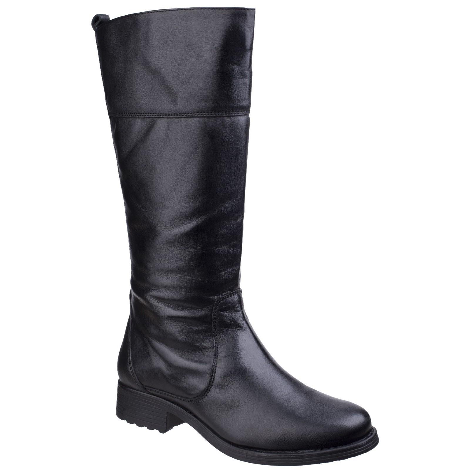 Fleet & Foster Dorcester Damen Zip Slipper Stiefel Lederstiefel Damenschuhe