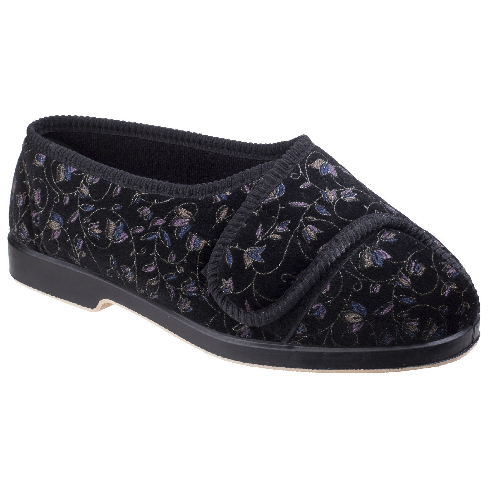 GBS Womens Nola Extra Wide Fit Ladies Slipper