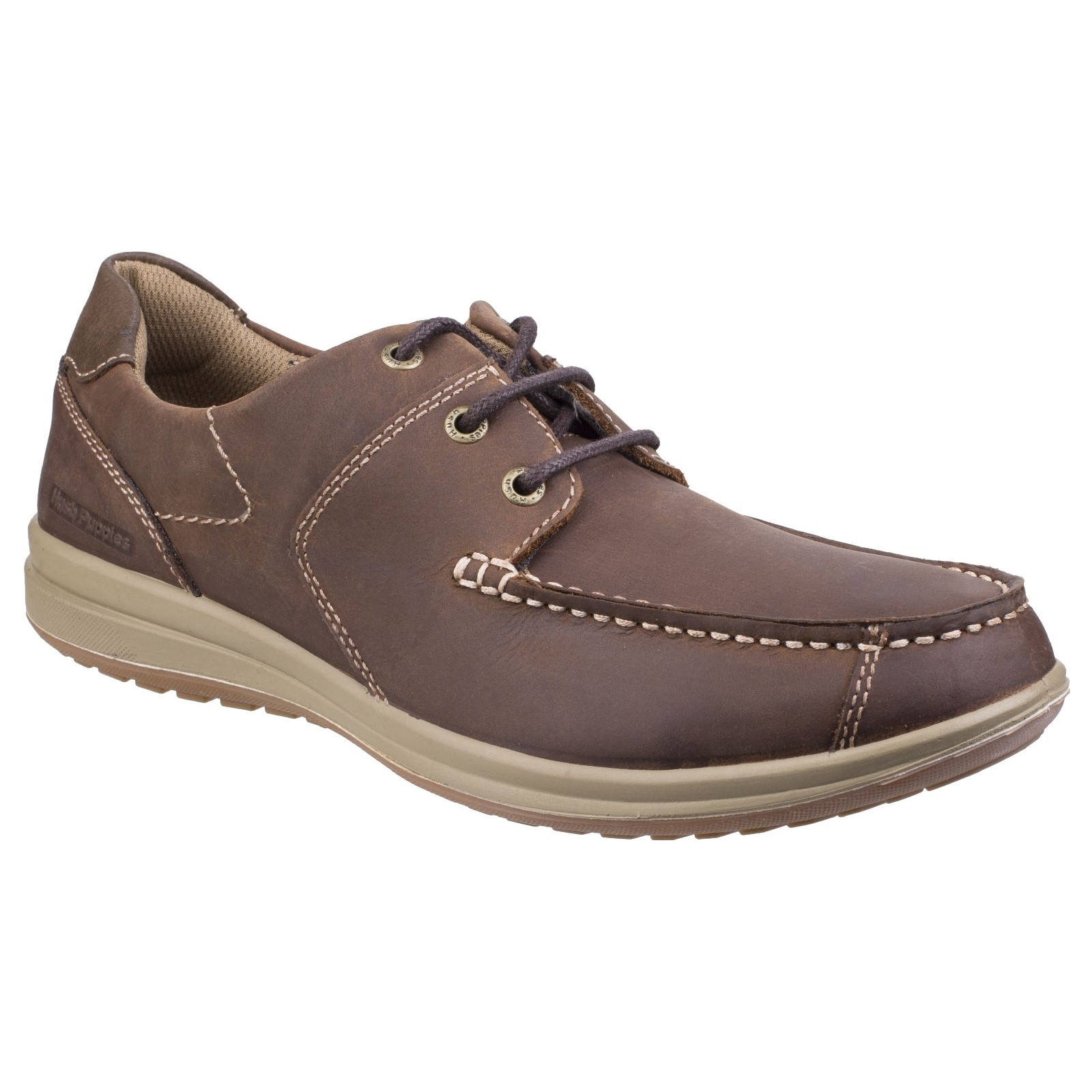 Hush Puppies Mens Runner Moccasin Lace Up zapatos