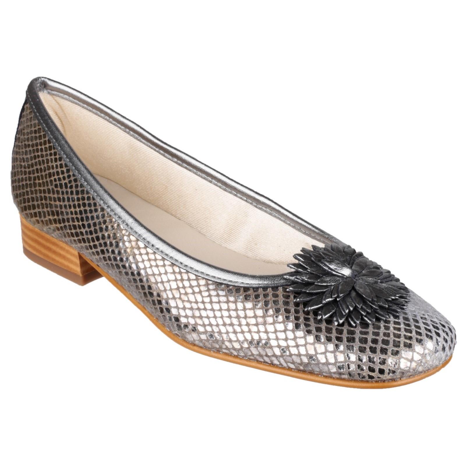 Riva femme la plaque Ballerine Chaussures Femmes Pewter Taille UK 7 EU 40