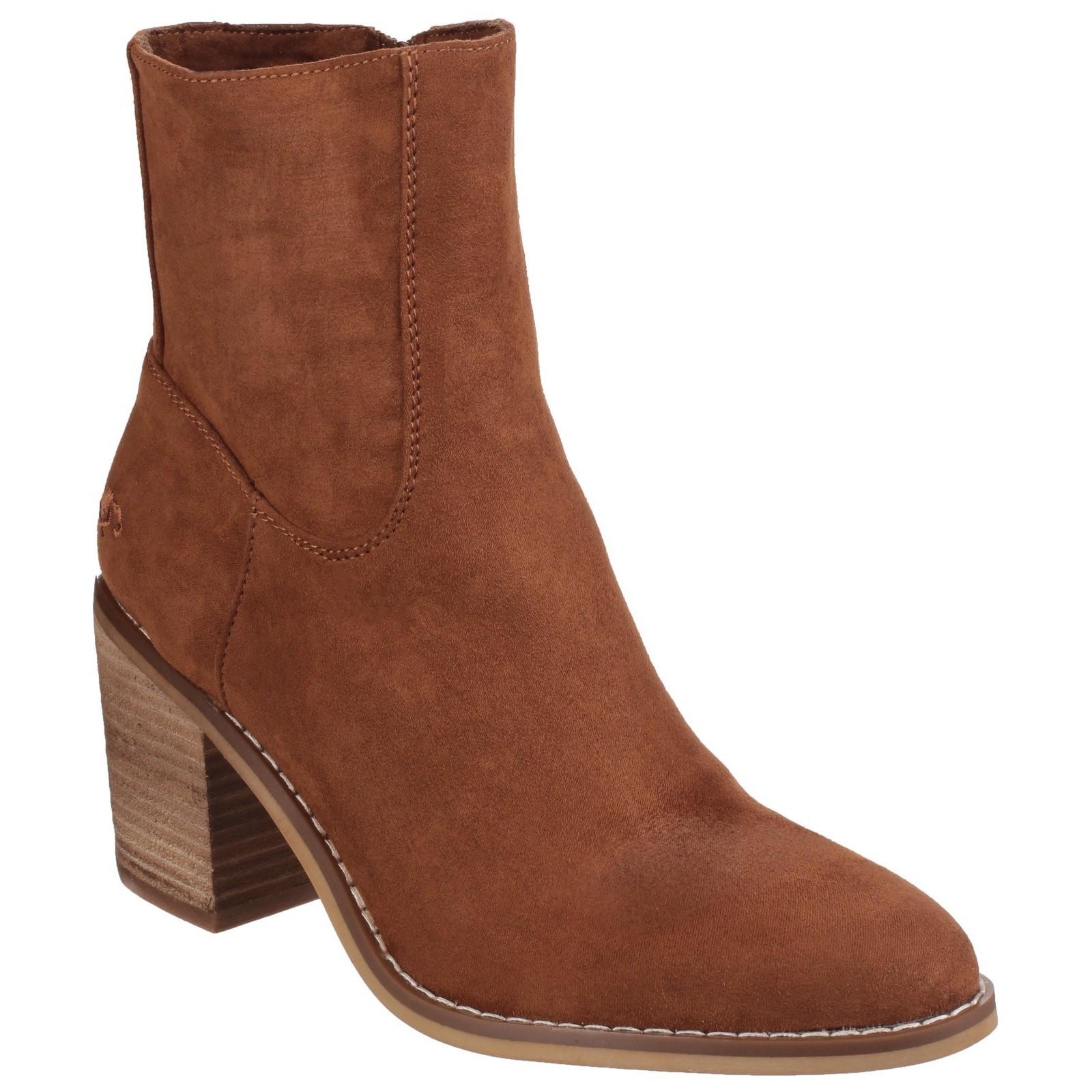 c44940226 Ladies Rocket Dog Mid Block Heel Zip High Ankle BOOTS Dannis Brown ...