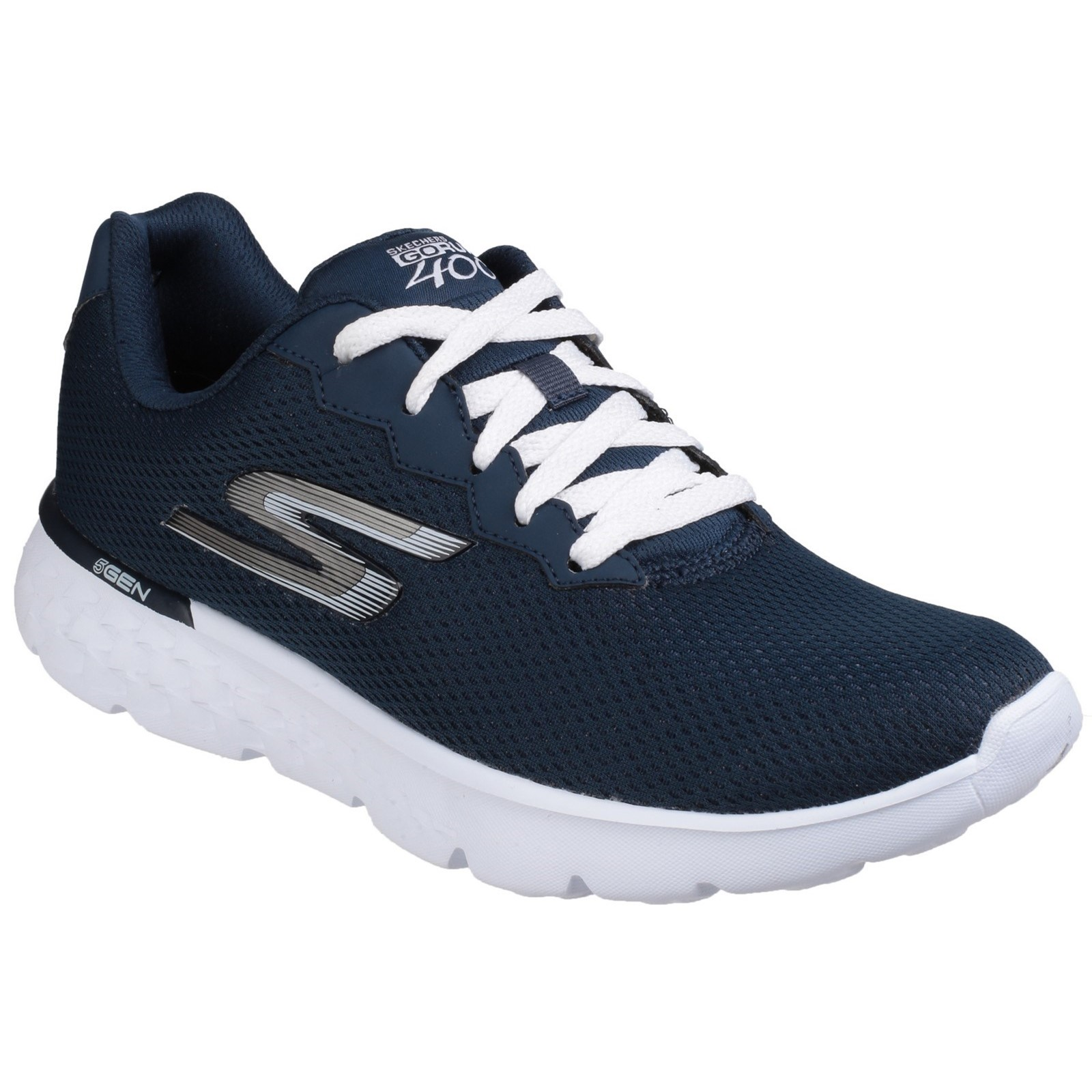 Skchers donna  Go Run 400 Action Cordones Calzado Deportivo blu Marino biancao  prezzo basso