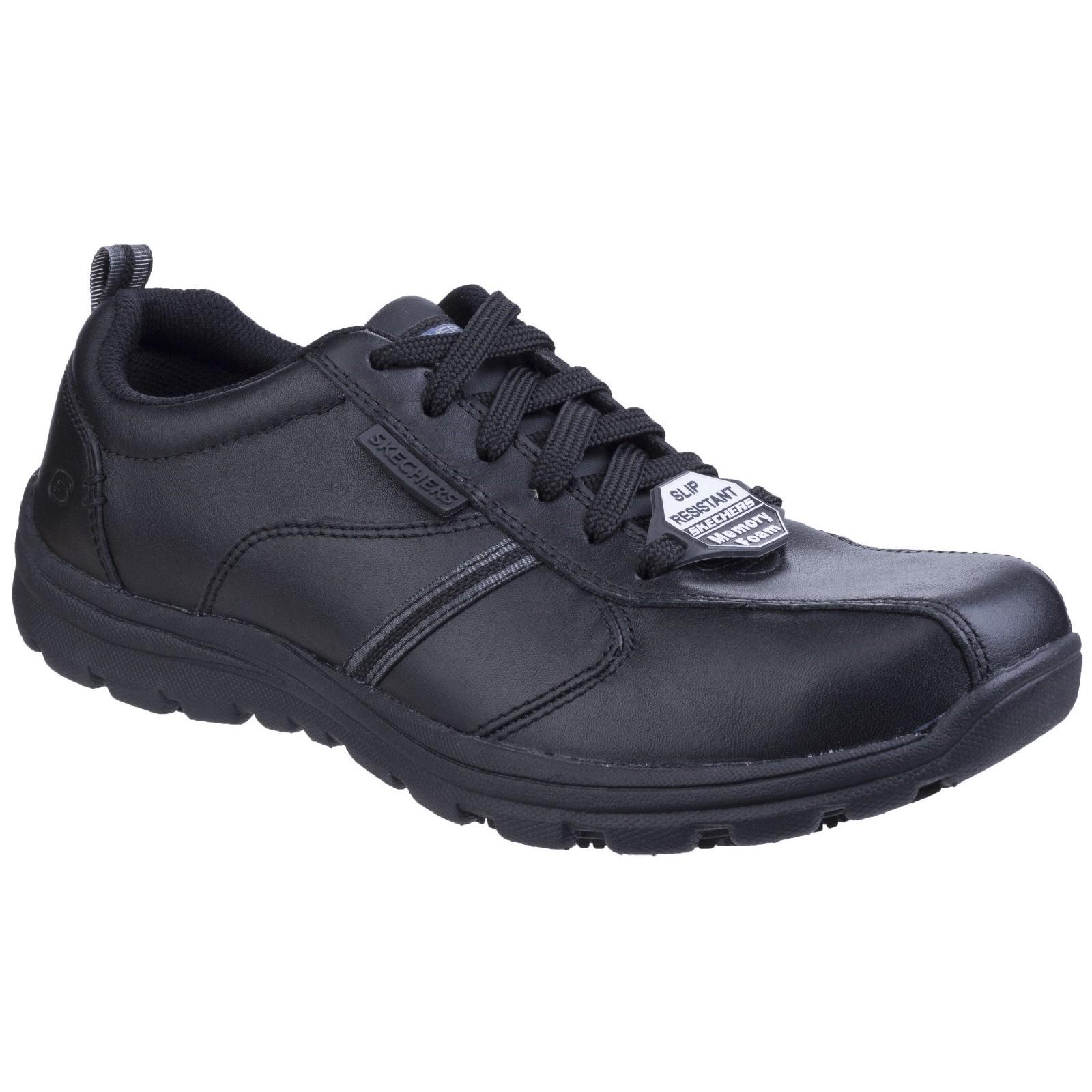 Skechers Mens Hobber Frat Slip Resistant Lace Up Work shoes