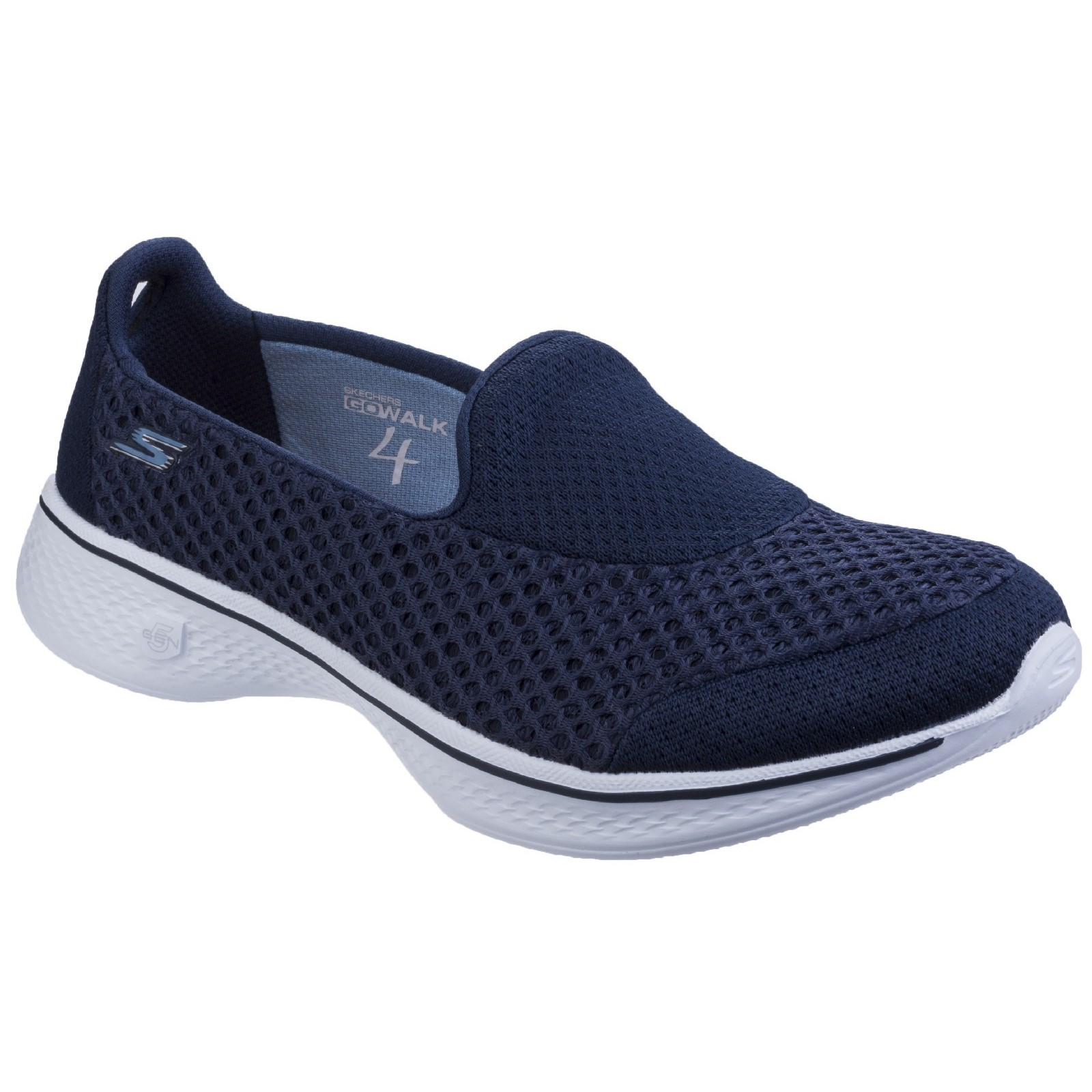 Skechers Womens Go Walk 4 Kindle Slip On shoes Navy White Size UK 3 EU 36