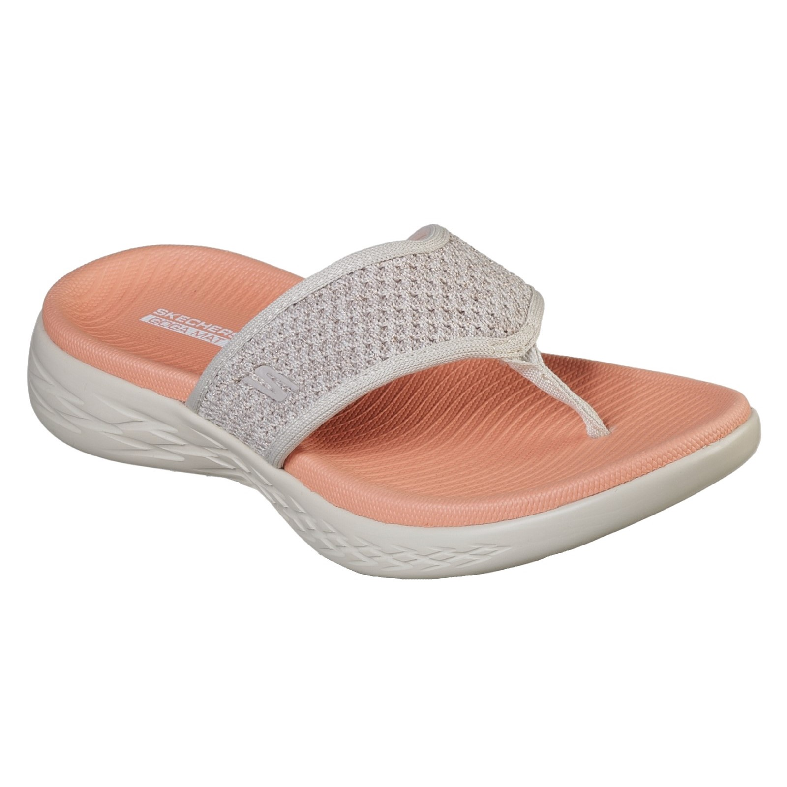 Skechers damen On-The-Go 600 Knit 3 Point Molded Footbed Sandal