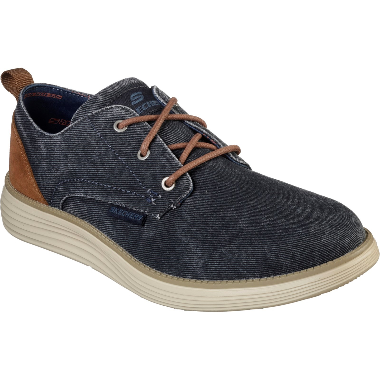 Skechers Mens Status 2.0 - Pexton Low Profile Canvas Lace Up shoes